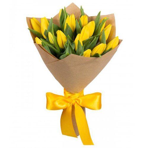 Фото товара 15 жовтих тюльпанів в Ужгороде