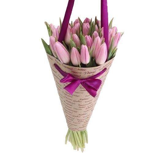 Фото товара 25 нежно-розовых тюльпанов в Ужгороде