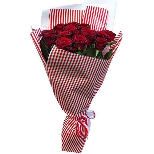 Фото товара 15 красных роз в Ужгороде