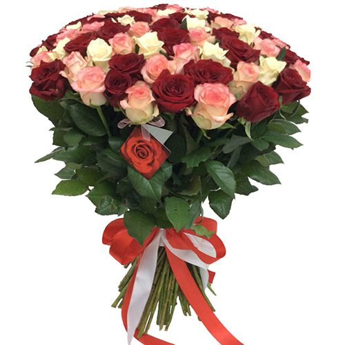 """Фото товара 101 роза """"Розовый жемчуг"""" в Ужгороде"""
