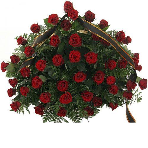 Фото товара 70 червоних троянд у кошику в Ужгороде