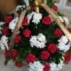 Фото товара 200 кустовых роз в корзине в Ужгороде