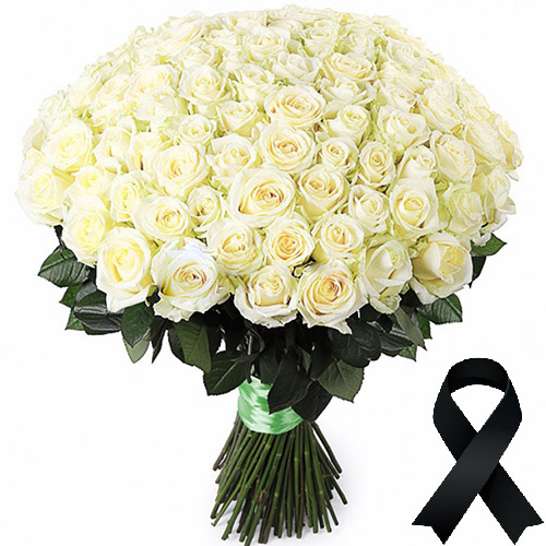 Фото товара 100 білих троянд в Ужгороде