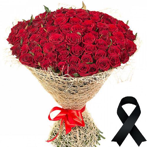 Фото товара 100 червоних троянд в Ужгороде