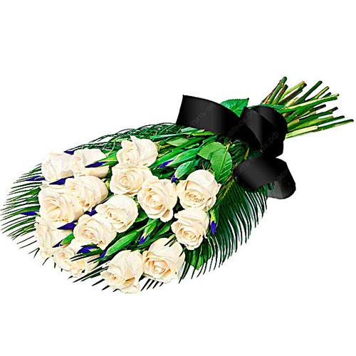 Фото товара 16 білих троянд в Ужгороде
