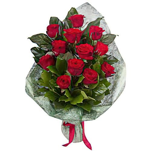 Фото товара 12 червоних троянд в Ужгороде