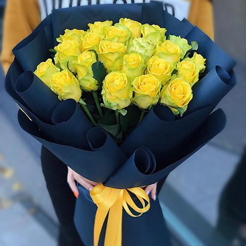 Фото товара Траурный букет жёлтых роз в Ужгороде